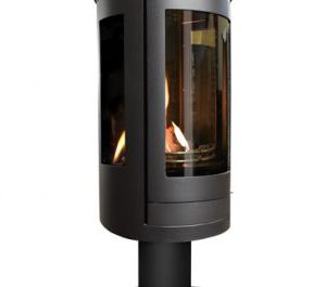 Oak Stoves - Serenita Pedestal - Gas Fire